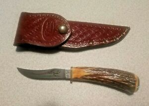 CASE XX Pheasant Blade Knife 523-3 1/4 SS Genuine STAG Handle & Sheath Made/ USA