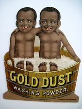 "Vintage Advertising Card for ""Gold Dust Washing Powder"" w/ Twins In A Wash Tub*"