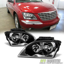 2004-2006 Chrysler Pacifica Headlights Headlamps Headlamps 04-06 Pair Left+Right