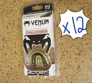 Venum Challenger Mouthguard - Black/Yellow Age 11+, Adult Nextfit Gel Lot of 12
