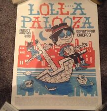 Lollapalooza 2013 - Commemorative Edition concert poster thicker cardboard