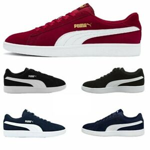 Mens Puma Trainers V2 Low Top Suede Casual Shoes Sneakers Lace Up Trainer Size