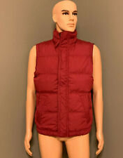 ABERCROMBIE & FITCH MENS OULUSKA PASS DOWN VEST JACKET RED M