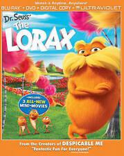 Dr. Seuss' The Lorax (Blu-ray/DVD, 2015, 2-Disc Set, UltraViolet)