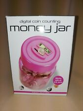 New ListingDigital Coin Counting Money Jar Automatic Counter Pink Piggy Bank