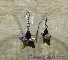 Bigiotteria artigianale / idea regalo ORECCHINI STELLE STELLINE multicolore