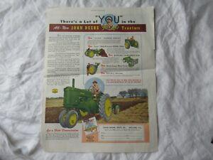 John Deere 60 tractor print AD