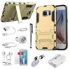 12 x Gold Kickstand Case Cover Charger Earphones Accessory For Samsung Galaxy S7