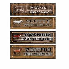 "CUSTOM Horse Sign 13.5"" Name Plate Stall Barn Personalized to your Specification"