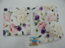 Floral Burp Cloths White Roses Claire 2 Pack Toweling Backed GREAT GIFT