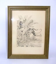 Erotic Art Etching about 1910 Signed