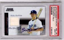 2004 Bowman Sterling AUTO RELIC Blake DeWitt RC PSA 9 LA Dodgers Chicago Cubs