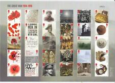 Gb 2018 The First World War 1914 1918 Composite Commemorative Sheet As4045Comp