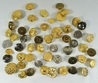 Vintage Mixed LOT of All-Metal Buttons Fancy Ornate Steam-Punk