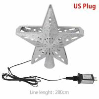Christmas Tree Topper LED Star Top Snowflake Projector XMAS Hanging Ornament
