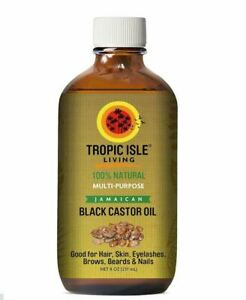 Tropic Isle Living Jamaican Black Castor Oil 8oz 100% Natural