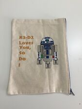 R2-D2 Loves You, So Do I Pencil Pouch Art Supplies Make-up Star Wars Valentine