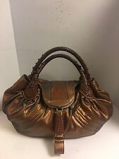AUTHENTIC Fendi Bronze Fortuny Nappa leather hologram spy bag RARE Retails $3000
