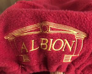 Albion Embroidered Red Saddle Fleece