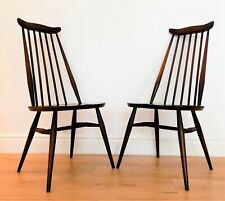 2 x ERCOL Model 369 Goldsmith CHAIRS, Elm, 1960's Retro, vintage, mid century