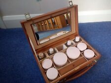 Vintage Luxury  Small Leather Fitted Vanity Case c1950's - Maylor London