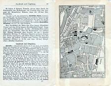 Innsbruck 1925 orig. Stadtplan + Reisef. (9 S.) Rennweg Hofgarten Annasäule