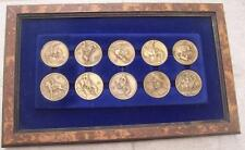 ART OF FREDERIC REMINGTON BRONZE MEDAL SET MEDALLIC ART CO 10 MEDALLIONS