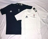 Adidas Team GB Training Shirt Running Athletics Olympic Mens Womens Blue / White