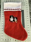 Bernese Mountain Dog puppies Embroidered Christmas Stocking Carols Crate Covers