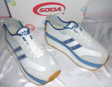 Vintage White Soda Platform Sneakers Size 7.5 New Old