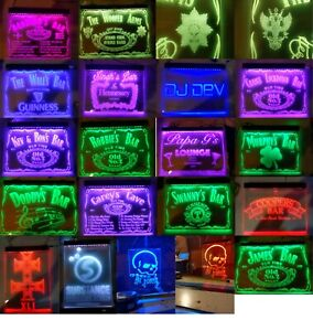 Own Design Name Personalized Custom Poster size LED Neon Bar Sign Man Cave