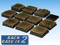 25mm Resin Bases (10) Square Timber Decking Warhammer