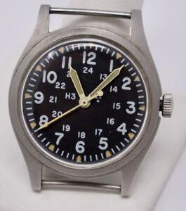 Hamilton Mar. 1981 US Military Mens Wristwatch,  H3 Tritium, Mil-W-46374B