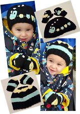 0-2 Years Two Hats And Mittens Knitting Pattern