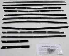 1968-1969 Lincoln 4 Door Sedan Window Beltline Weatherstrip Kit 12 pieces