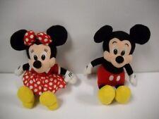 Walt Disney Company Authentic Mickey & Minnie Mouse Bean Bag Plush Set Rare Vhtf