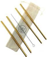 Strohhalm-Set aus 4 Edelstahl Strohälmen als Alternative Plastik Strohhalmen