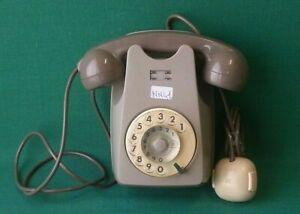 TELEFONO SIP DA PARETE MURO SIEMENS DISCO BIGRIGIO VINTAGE DESIGN ANNI 70. NN41