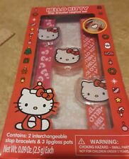 Hello Kitty Christmas  Slap Bracelet Lip gloss Set