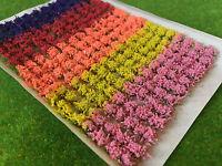Small Mixed Flower Tufts - Model Scenery Static Grass Warhammer Railway Field