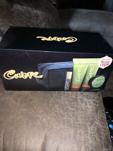 Curve for Men Cologne Spray, Aftershave Balm, Hair Pomade & Shower Gel Gift Set