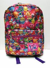 """I Love Spk Shopkins All Print 16"""" Backpack School Kids Girls Book bag Mochila Nw"""
