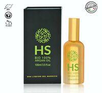 Olio di Argan Puro 100% Biologico Idratante Adatto per Pelle Capelli, Corpo e Un