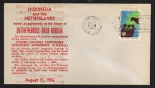 UNTEA - WEST NEW GUINEA August 15 1962 agreement signed NETHERLANDS / INDONESIA