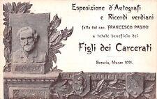 C4385) BRESCIA 1901, VERDI, ESPOSIZIONE DI AUTOGRAFI E RICORDI VERDIANI.