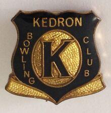 Kedron Bowling Club Badge Pin Vintage Lawn Bowls (L16)