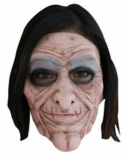 Old Lady Grandma Nanny Hag 2 Piece Moving Mouth Adult Latex Mask Halloween Prop