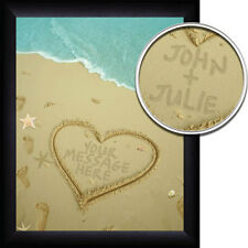 Personalized Name in the Sand Lover's Beach Print - Great Anniversary Gift
