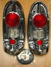 1956 CHEVY TAIL LAMP TAIL LIGHT CHROME ASSEMBLIES   new pair ** USA MADE **