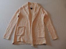 H&M Women's White & Pink Cardigan Sweater Size Small New